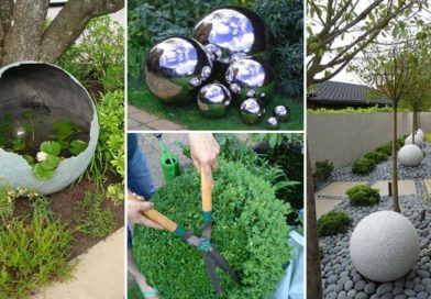 10 DIY Globe & Gazing Ball Ideas to Make Your Garden Shine