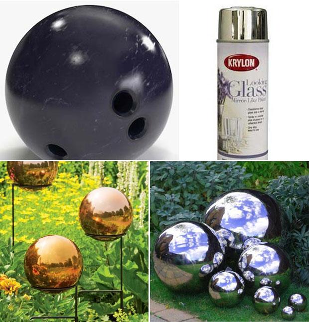 DIY Mirrored Gazing Ball