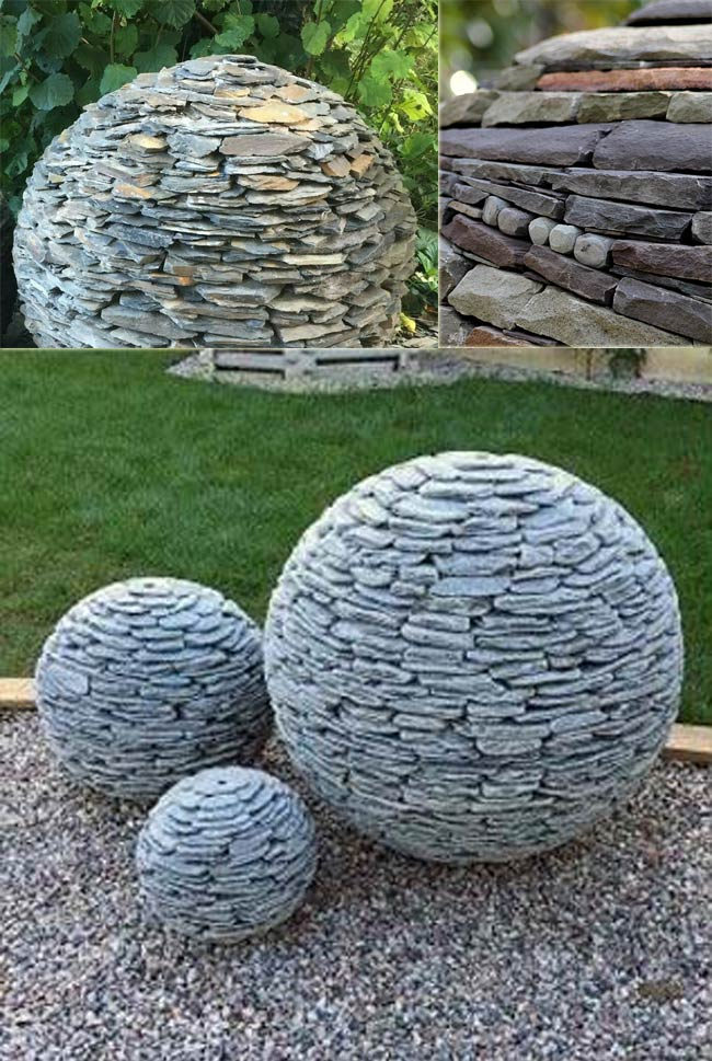 Stacked Slate Spheres