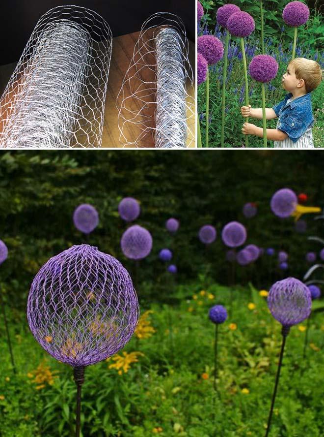 Chicken Wire Garden Balls