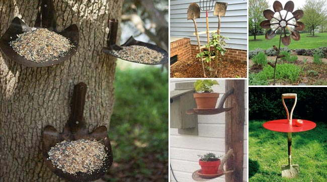 10 Unique Garden Crafts Made From Old Gardening Tools