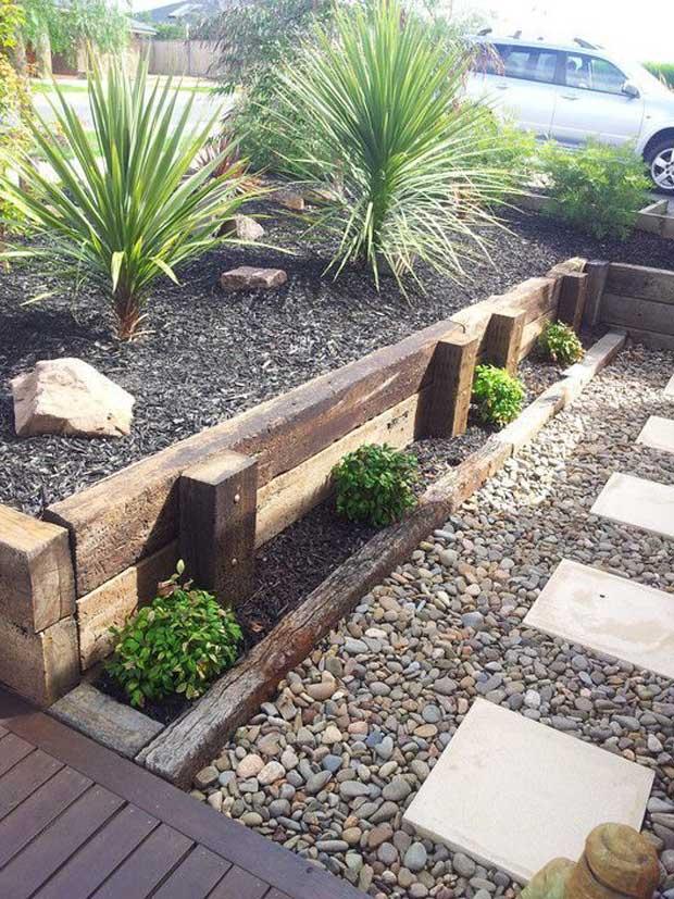 How-to & Tips for Creating Railway Sleepers Garden Edging ...