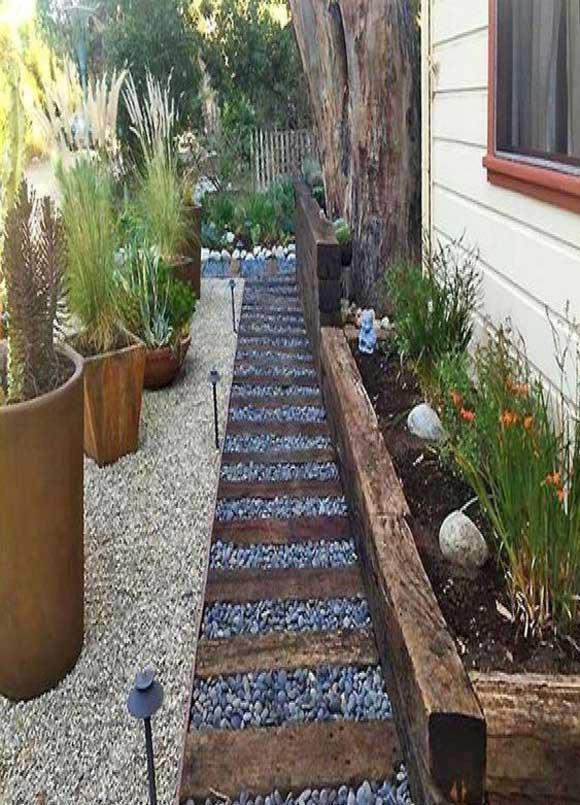 howto make a sleeper garden edge