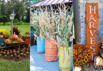 21 Awesome DIY Fall Decoration Ideas for Your Garden and Yard